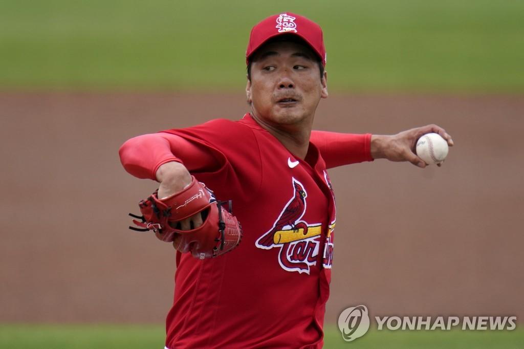 투구 훈련을 재개하는 김광현