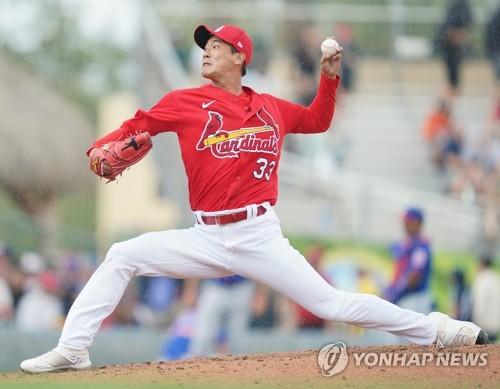 2경기 3이닝 무피안타 5K…선발 경쟁에서 한발 앞선 김광현