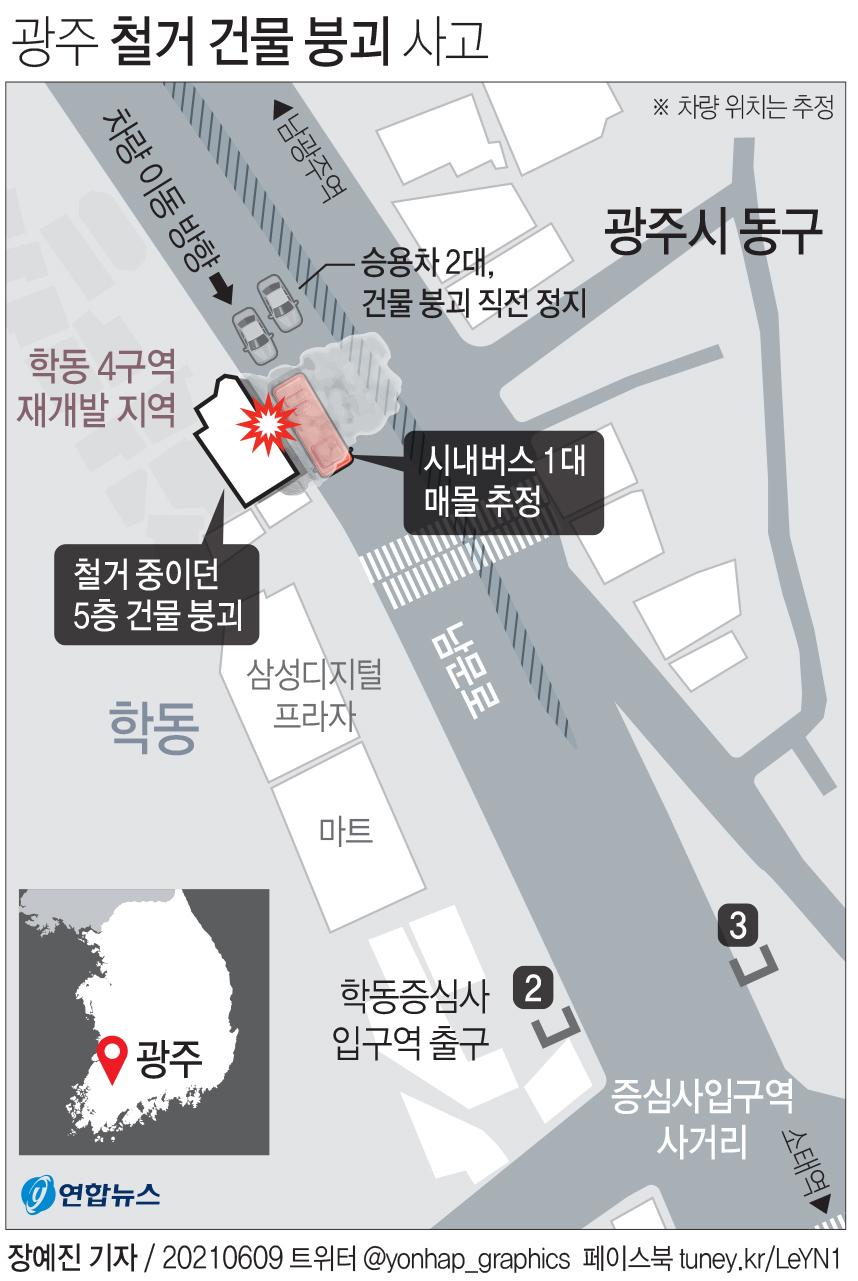 [그래픽] 광주 철거 건물 붕괴 사고