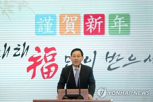 Rep. Joo Ho-young, the floor leader of the tentatively named Righteous Party (Yonhap)
