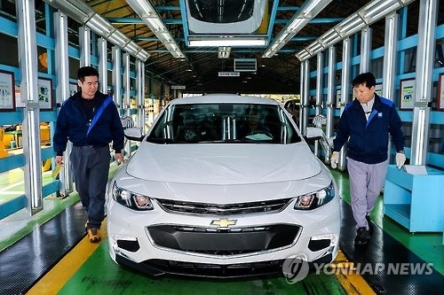 GM Korea's January sales down 4.8 percent on-year