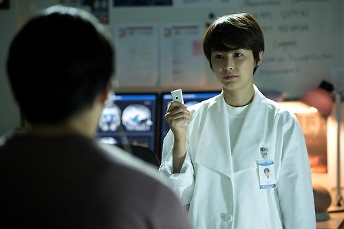 "This image released by Next Entertainment World shows Kang Hye-jung in a scene from ""Lucid Dream."" (Yonhap)"