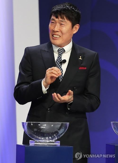 In this file photo taken on March 15, 2017, South Korean football icon Cha Bum-kun speaks during a drawing ceremony for the 2017 FIFA U-20 World Cup in Suwon, Gyeonggi Province. (Yonhap)