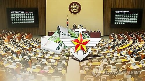 An image of the National Assembly's review of defense budgets (Yonhap)