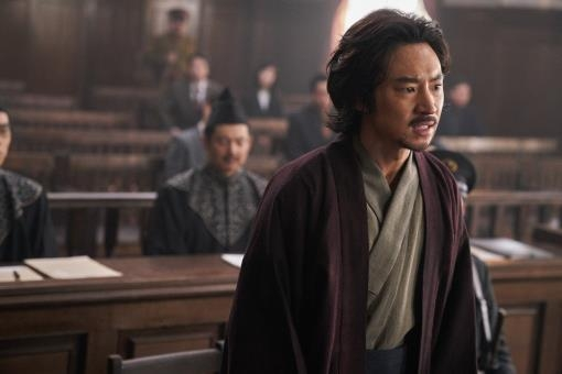 "This photo provided by Megabox Plus M shows actor Lee Je-hoon as Park Yeol in the new Korean historical film ""Anarchist from Colony."" (Yonhap)"