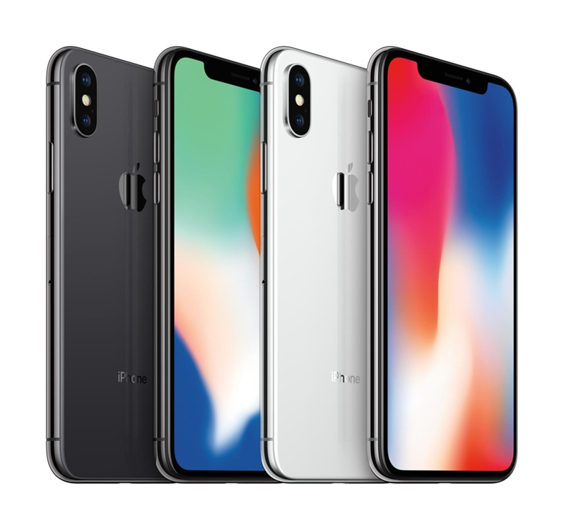Some of Apple Inc.'s iPhone X smartphones are shown in this picture released by SK Telecom Co. on Nov. 16, 2017. (Yonhap)