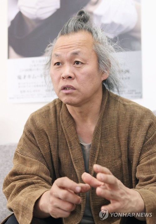 Filmmaker Kim Ki-duk is shown in this file photo on May 10, 2017. (Yonhap)