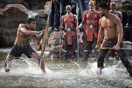 "A still from ""Black Panther"" (Yonhap)"
