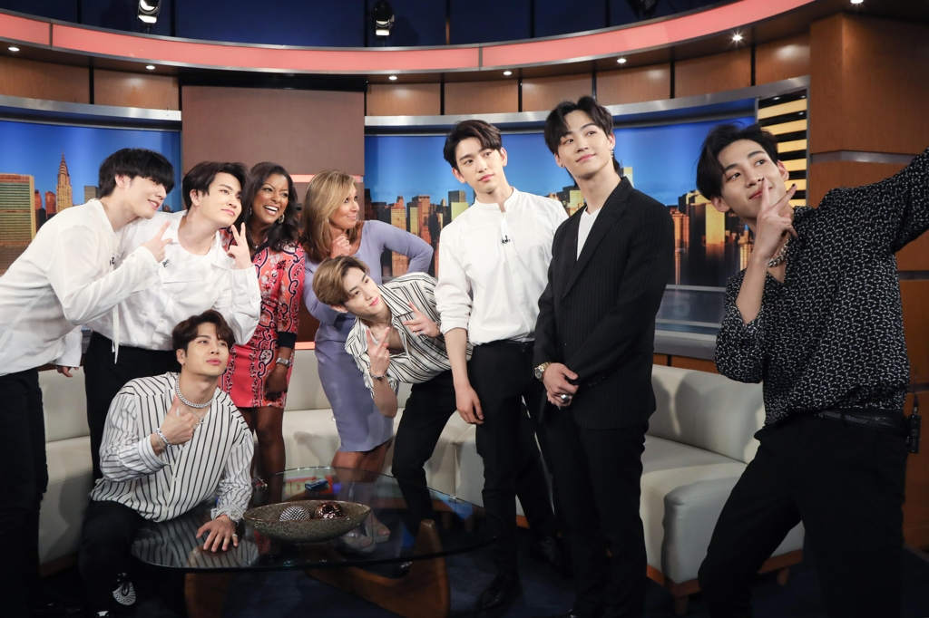 GOT7 appears on American 'Good Day New York' show | Yonhap News Agency