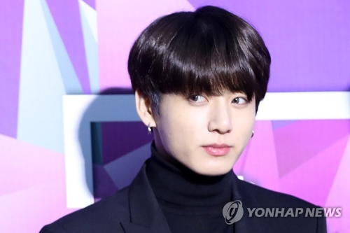 This file photo shows Jungkook of BTS. (Yonhap)