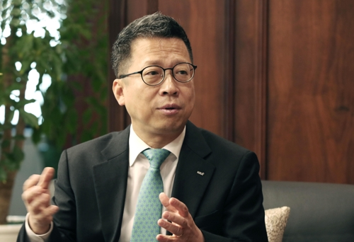 Jung Ji-won, chief of the Korea Exchange (Yonhap)