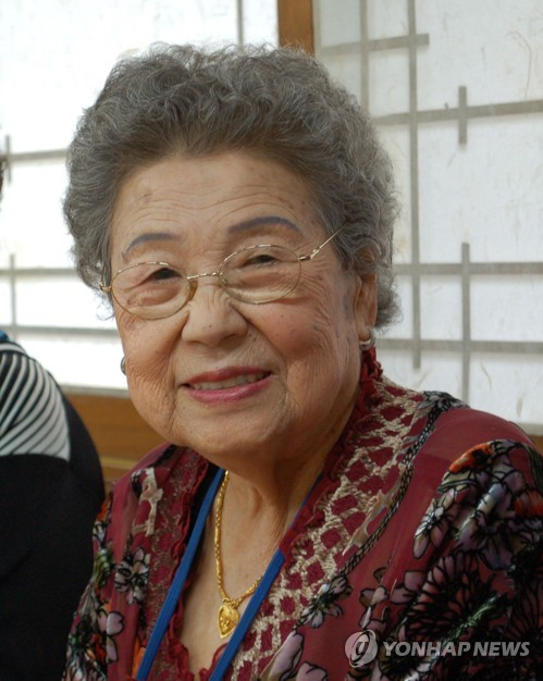 This photo, provided by the House of Sharing on Dec. 5, 2018, shows former comfort woman Kim Sun-ok, who died at 97 at the shelter in Gwangju, about 40 km southeast of Seoul, earlier in the day. Kim was a victim of Japan's sexual enslavement of women for its soldiers during World War II. There now are 26 remaining South Korean comfort women. (Yonhap)