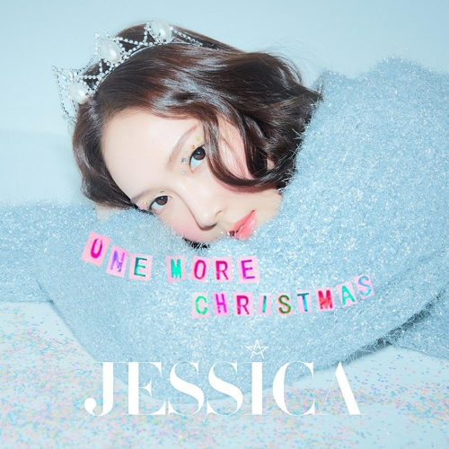 "This promotional image for Jessica's new Christmas song, ""One More Christmas,"" is released by Amuse. (Yonhap)"