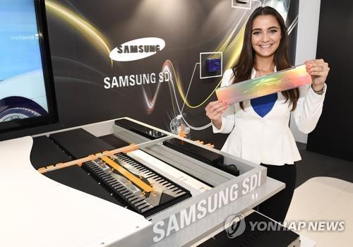 Samsung SDI Co.'s electric vehicle battery (Yonhap)
