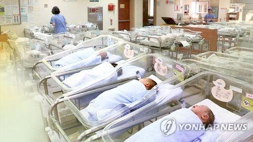 This file photo shows newborns in a general hospital on June 28, 2018. (Yonhap)
