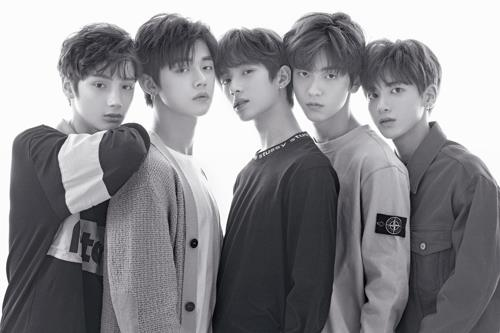This image of TOMORROW X TOGETHER, or TXT, was provided by Big Hit Entertainment. (Yonhap)