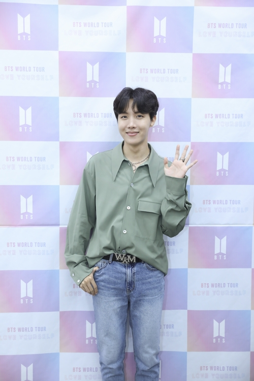 This photo of J-Hope from BTS is provided by ChildFund Korea. (Yonhap)
