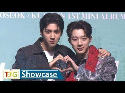 Cube's new project unit Wooseok X Laikuanlin in debut showcase
