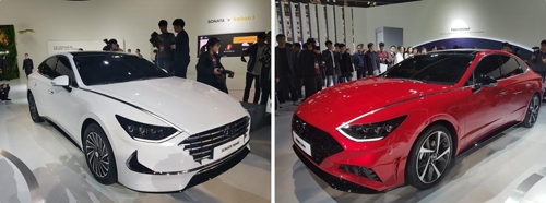 (LEAD) Hyundai Sonata hybrid, turbo model unveiled at Seoul Motor Show
