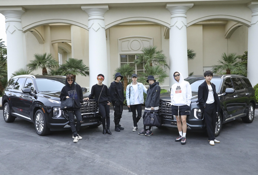 Hyundai Offers Palisade To K Pop Band Bts For Travel To