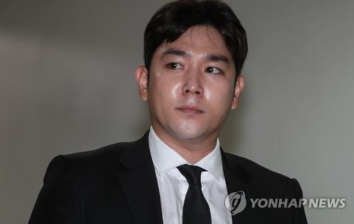 This image shows Kangin, a member of Super Junior, who said on July 11, 2019, that he will leave the band. (Yonhap)