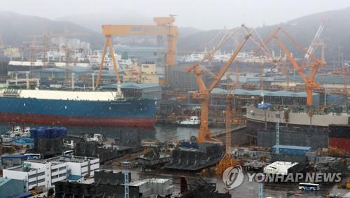 This file photo taken on Jan. 31, 2019, shows Daewoo Shipbuilding & Marine Engineering Co.'s shipyard in Geoje, South Gyeongsang Province. (Yonhap)