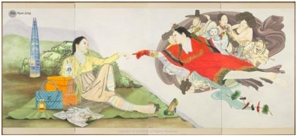 This image of one of Kim Hyun-jung's paintings was captured from her official website. (PHOTO NOT FOR SALE) (Yonhap)