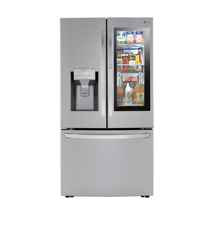 An LG Electronics Inc. refrigerator is shown in this photo provided by the Korean home appliance maker on Sept. 26, 2019. (PHOTO NOT FOR SALE) (Yonhap)