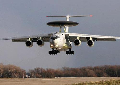 This image captured from Russia's defense ministry website shows a Russian A-50 early warning and control plane. (PHOTO NOT FOR SALE) (Yonhap)