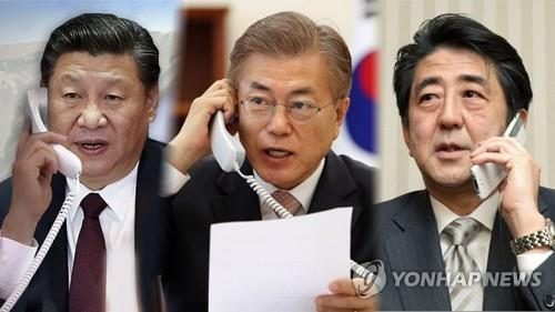 Moon to attend annual summit with Chinese, Japanese leaders