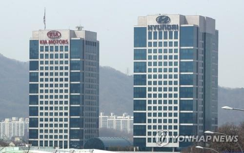 This undated file photo shows Hyundai Motor and its affiliate Kia Motors' headquarters in Yangjae, southern Seoul. (Yonhap)