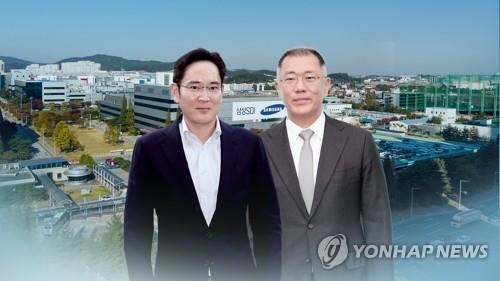 (LEAD) Samsung, Hyundai Motor heirs discuss cooperation in mobility biz