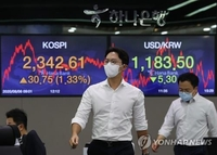 (LEAD) Seoul stocks rally amid global economic rebound hopes, surprise Q2 earnings
