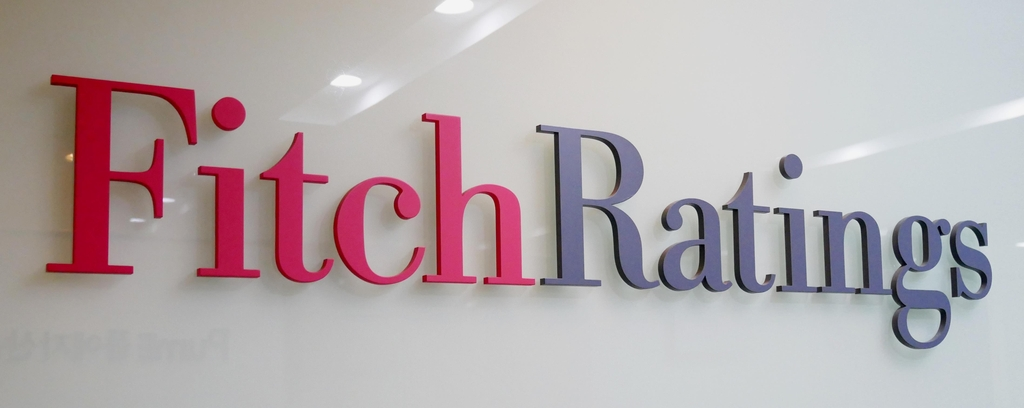 Fitch Rating logo at its office in Seoul (Yonhap)