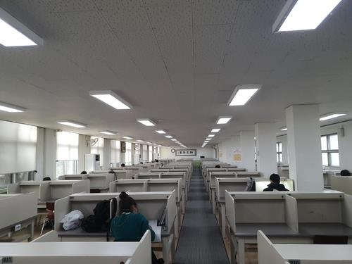 This photo, taken Nov. 24, 2020, shows a quiet room in the Jeongdok Public Library in Jongno Ward, Seoul. (Yonhap)
