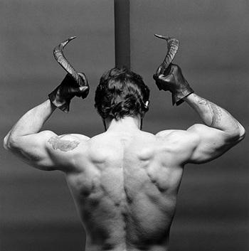 "This image, provided by Kukje Gallery, shows Robert Mapplethorpe's work ""Frank Diaz"" (1980). (PHOTO NOT FOR SALE) (Yonhap)"