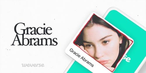 This image, provided by beNX, shows a promotional image marking Gracie Abrams' joining the fan community platform Weverse. (PHOTO FOR SALE) (Yonhap)