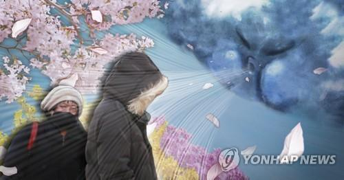 Unseasonable cold snap grips South Korea