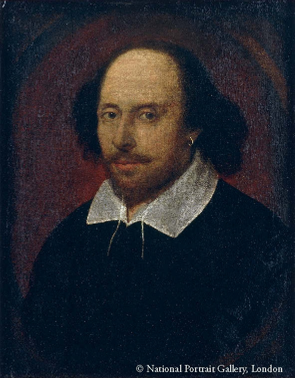 This image, provided by the National Portrait Gallery, London, shows British playwright William Shakespeare. (PHOTO NOT FOR SALE) (Yonhap)