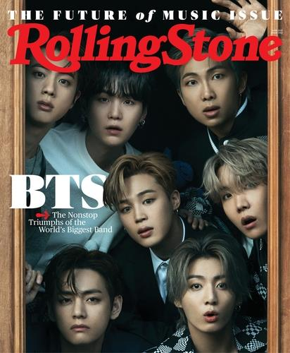 This image provided by Rolling Stone on May 14, 2021, shows the cover of its June edition. (PHOTO NOT FOR SALE) (Yonhap)
