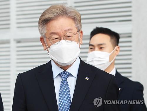 This image shows Gyeonggi Gov. Lee Jae-myung on June 28, 2021. (Yonhap)