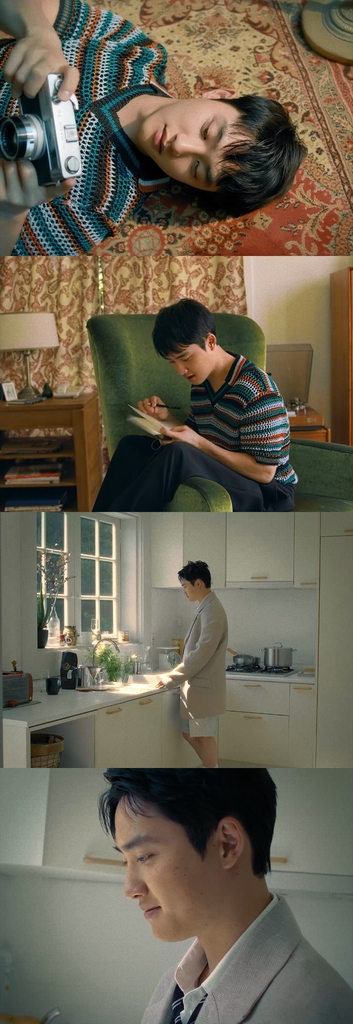 """This compilation photo, provided by SM Entertainment, shows teaser images for EXO member D.O.'s upcoming solo release """"Empathy."""" (PHOTO NOT FOR SALE) (Yonhap)"""