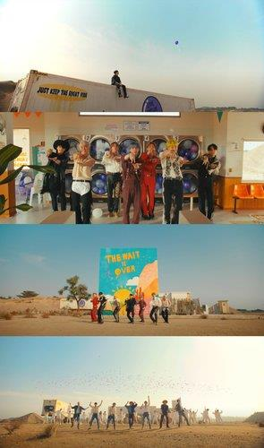 """This compilation image, provided by Big Hit Music, shows scenes from the BTS music video """"Permission to Dance."""" (PHOTO NOT FOR SALE) (Yonhap)"""