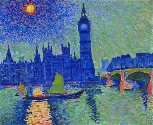 «Big Ben» (1906) d'André Derain ⓒ Laurent Lecat / Musee d'Art moderne de Troyes, collections nationales Pierre et Denise Levy