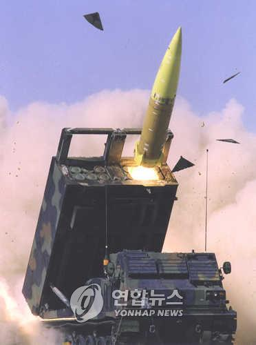Missile balistique sol-sol tactique américain ATACMS Block 1A. (Photo d'archives Yonhap)
