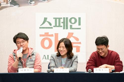 왼쪽부터 나영석 PD와 장은정 PD, 김대주 작가