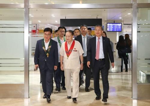 국제대회 참석차 마닐라 찾은 리종혁 조선아태부위원장