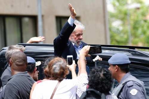 부패 혐의로 실형을 선고받고 연방경찰에 수감된 룰라 전 대통령 [브라질 뉴스포털 UOL]