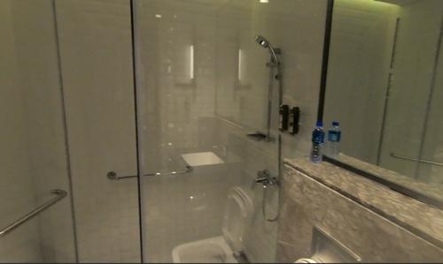 홍콩 플라자 프리미엄 라운지의 샤워실 [사진/성연재 기자]