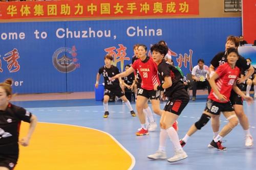 한국과 중국의 경기 모습.